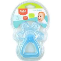 Mordedor Bebê Buba Gelado Com Água Chocalho - Masculino-Azul Claro
