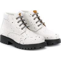 Gallucci Kids Paint-Splatter Effect Boots - Branco