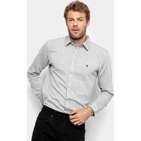 66f3e2dfc Camisa Social Manga Longa Foxton Oxford Masculina - Masculino
