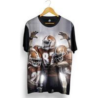 Camiseta Bsc Football Player Full Print - Masculino-Preto