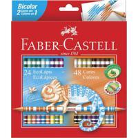 Lápis De Cor - Ecolápis Bicolor - 48 Cores - Faber-Castell
