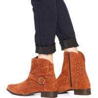 Bota Country Dafiti Shoes Estrelada Caramelo