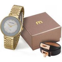 Relógio Mondaine 99122Lpmvde1Kz Feminino - Feminino-Dourado