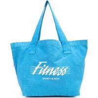 Sporty & Rich Bolsa Tote Com Logo - Azul