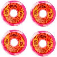 Rodas Narina Skate Tnt Reissue Rajada 62Mm 97A Branca E Rosa