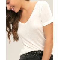 Blusa Decote V Lez Is More Branco Off White - Lez A Lez