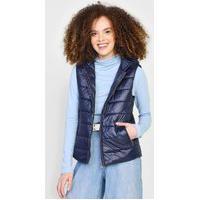 Colete Puffer Calvin Klein Jeans Capuz Azul-Marinho