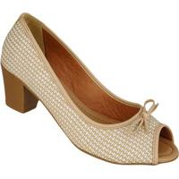 Sapato Peeptoe C Lacinho Di Santinni 62782032