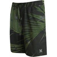 Shorts Hurley Elastico Water Palms Masculina - Masculino-Verde