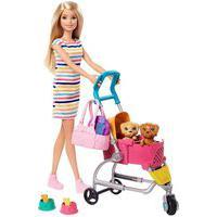 Boneca Barbie Carrinho De Cachorrinhos Mattel