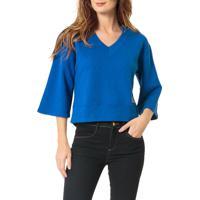 Blusa Calvin Klein Jeans 1978 Costas Azul Carbono - Pp