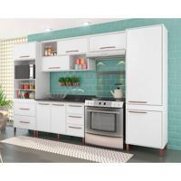 Cozinha Completa Castanha 10 Pt 5 Gv Branco