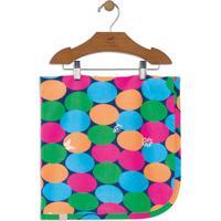 Manta Geométrica- Verde & Rosa- 70X70Cmup Baby - Up Kids