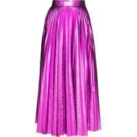 Christopher Kane Metallic Pleated Skirt - Rosa