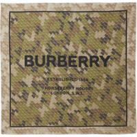 Burberry Echarpe Com Estampa Horseferry De Seda - Verde