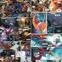 Papel De Parede Adesivo Quadrinhos Superman (0,58M X 2,50M)