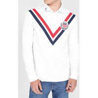 Camisa Polo Ralph Lauren Reta Logo Bordado Branca