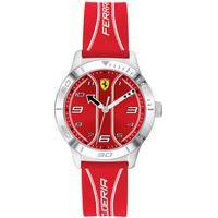 Relógio Scuderia Ferrari Infantil Borracha Vermelha - 810023
