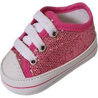 Sapatinho De Bebe Milu Fashion Pink Gliter