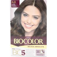 Tintura Biocolor Kit Creme 6.0 Louro Escuro Clássico