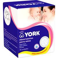 Absorvente Para Seios York 30 Unidades Embalagem Econômica