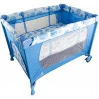 Berço Portátil E Cercadinho Eco Color Baby Azul