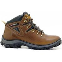 Bota Coturno Adventure Atron Shoes Trilha Masculino - Unissex-Marrom