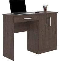 Mesa Para Computador Com Armário Space Imbuia