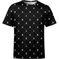 Camiseta Estampada Over Fame Xadrez Preta