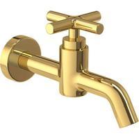 Torneira Para Banheiro Parede Duna Clássica Gold - 1174.Gl64 - Deca - Deca