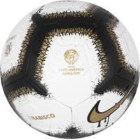 Bola De Futebol De Campo Nike Rabisco Copa América 2019 Strike - Branco/Ouro