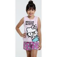 Pijama Infantil Estampa Hello Kitty