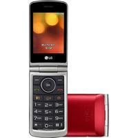 Celular Lg G360 Flip Dual Chip Vermelho