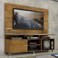 """Rack Com Painel Home Leblon 1,6 M Para Tv 55"""" Castanho - Castanho - Dafiti"""