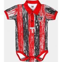 Body São Paulo Bebê Listras Craqueladas - Masculino