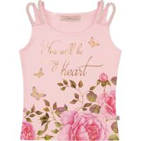 "Blusa ""My Heart""- Rosa Claro & Rosa- Kidstime Kids"