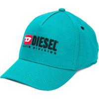 Diesel Kids Boné Com Logo - Azul