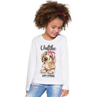 Blusa Infantil Menina Branco