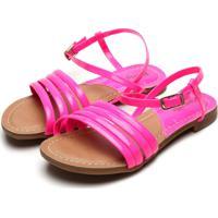 Sandália Pampili Menina Liza Neon Pink