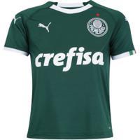 Camisa Do Palmeiras I 2019 Puma - Infantil - Verde