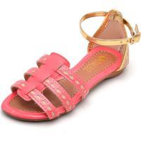 Sandália Daluz Menina Feliz Pink