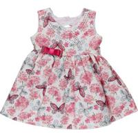 Vestido Infantil Para Bebê Menina - Rosa