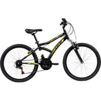 Bicicleta Caloi Max Front - Aro 24 - Freio V-Brake - 21 Marchas - Infantil - Preto/Amarelo