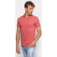f3f45050c4d8b ... Camisa Polo Lacoste Listrada Masculina - Masculino-Rosa Escuro