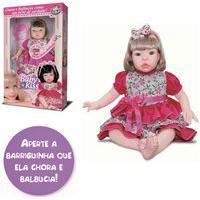 Boneca Baby Kiss Chora E Balbucia Original Na Caixa Tipo Reborn Loira Como Bebê De Verdade