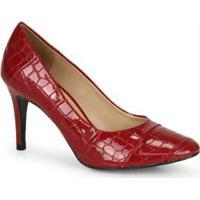 Sapato Salto Fino Cesaretti Vermelho Vermelho