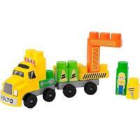 Baby Land Construtor Com Acessórios - Unissex-Amarelo+Verde