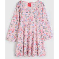 Vestido Tricae Infantil Floral Rosa