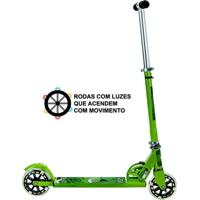 Patinete Unik Toys Com Luzes Na Roda Monstrinho Durão Verde