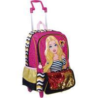 Mochilete Grande Barbie 19Z Infantil Sestini - Feminino-Rosa